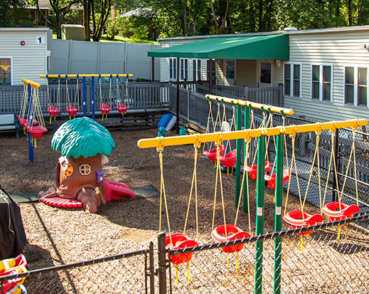 A photo of the playground at Windsor Academy.