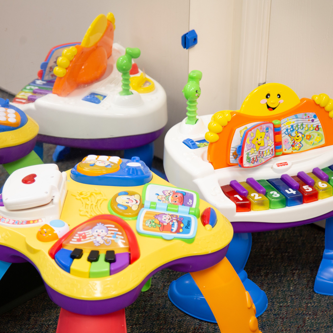 Musical toys in the infant room