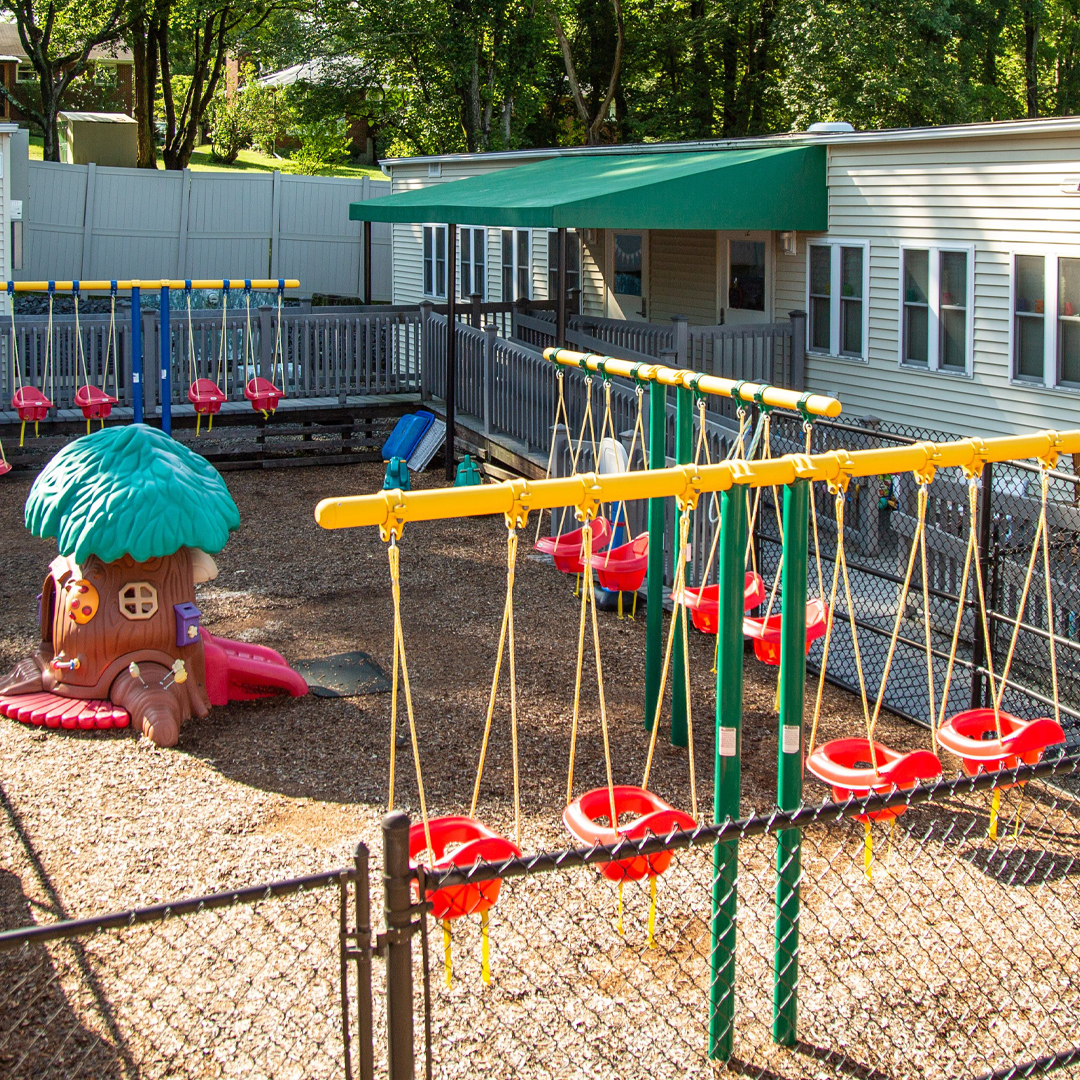 Infant/Toddler Playground in front of the Infant/Toddler Center